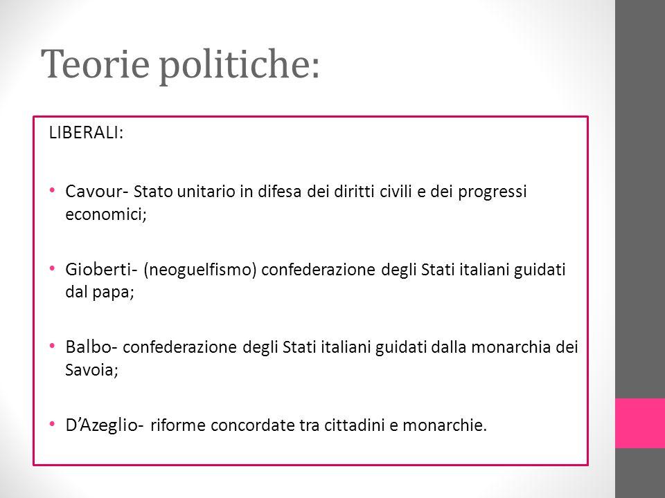 Teorie politiche: LIBERALI: