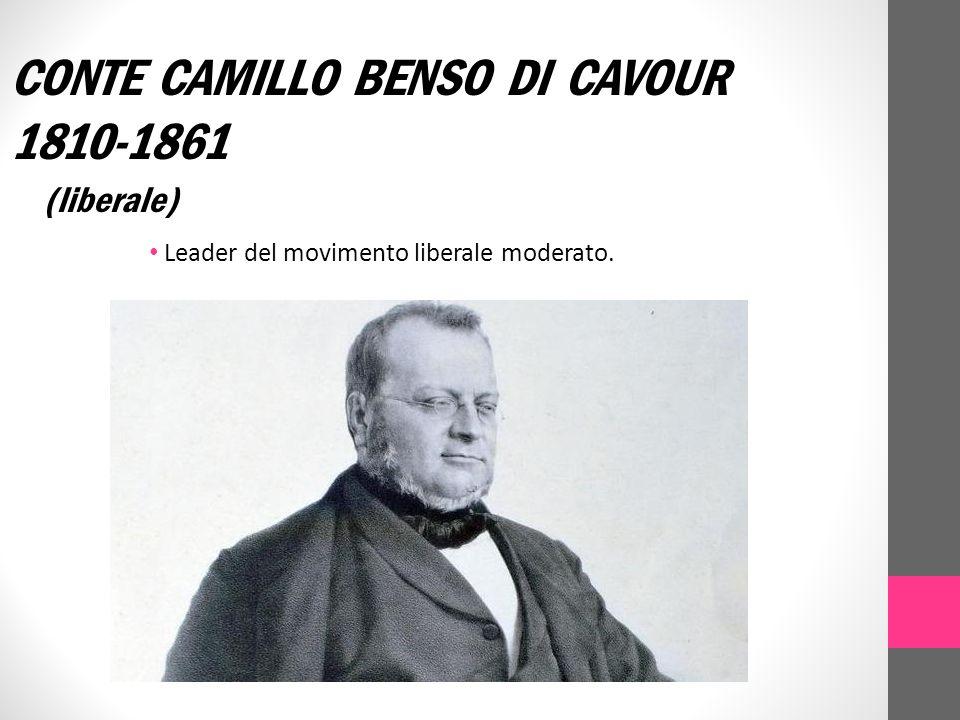 CONTE CAMILLO BENSO DI CAVOUR 1810-1861
