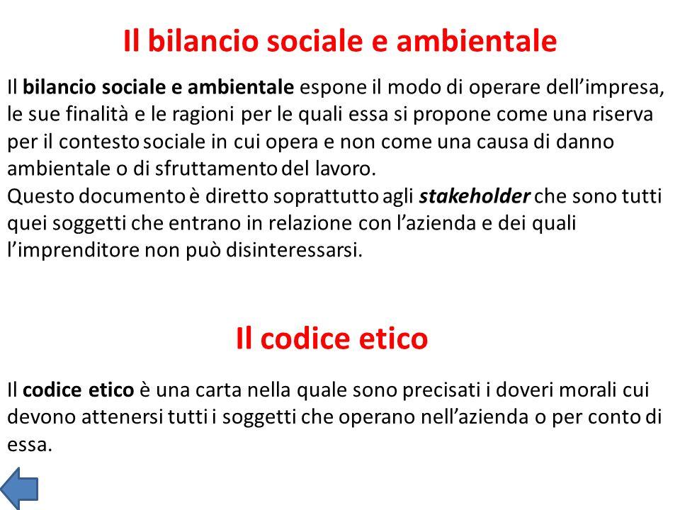 Il bilancio sociale e ambientale