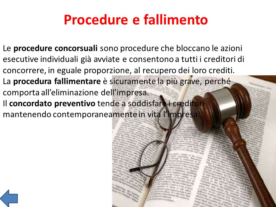 Procedure e fallimento