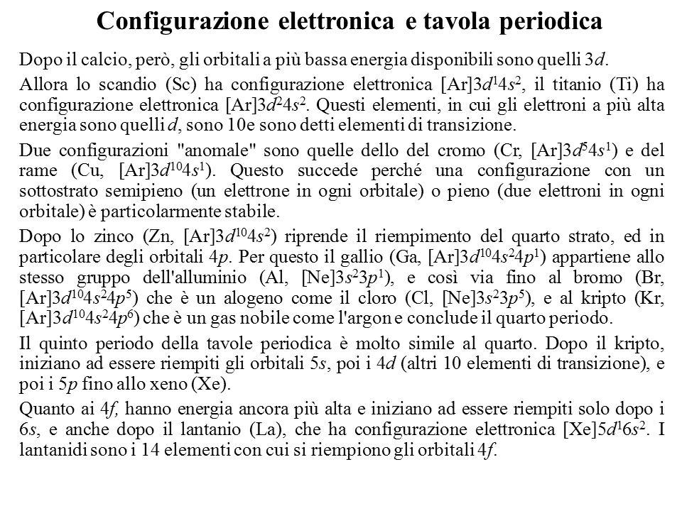 La radiazione elettromagnetica ppt scaricare - Tavola periodica configurazione elettronica ...