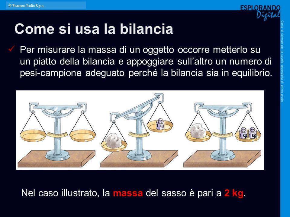 © Pearson Italia S.p.a. Come si usa la bilancia.