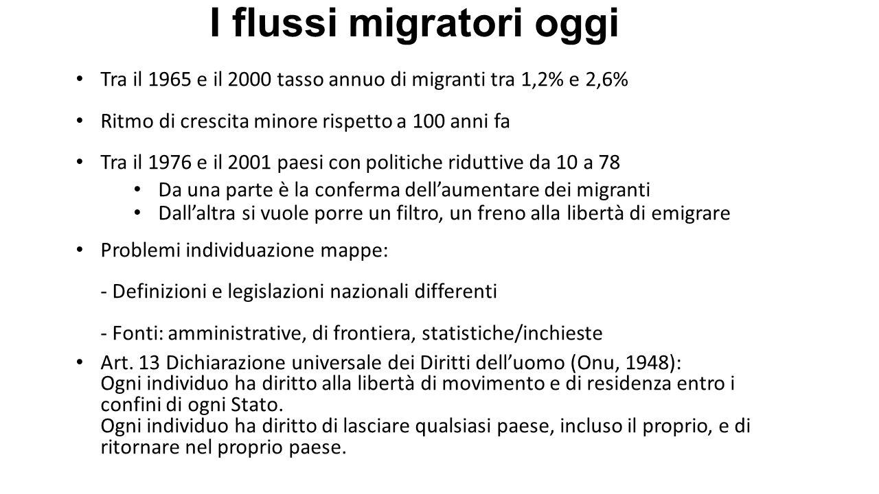 I flussi migratori oggi