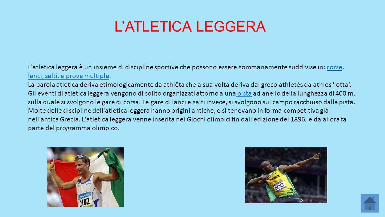 L'ATLETICA LEGGERA