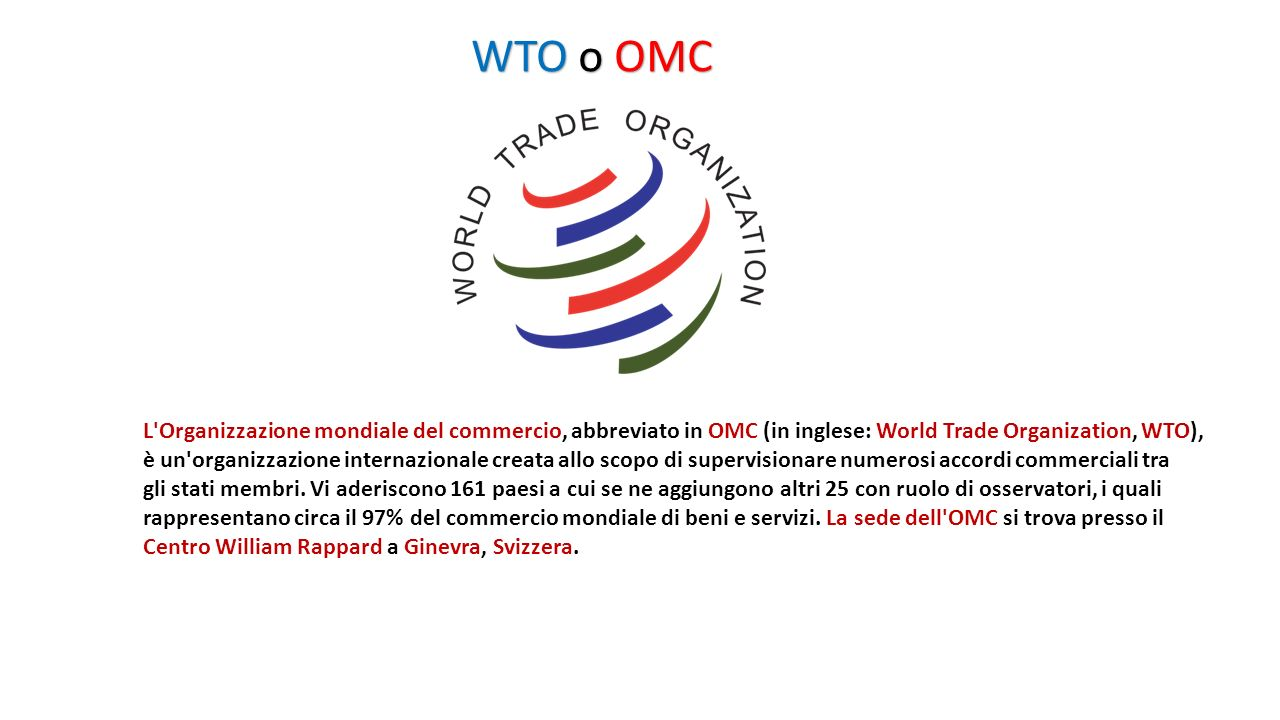 WTO o OMC