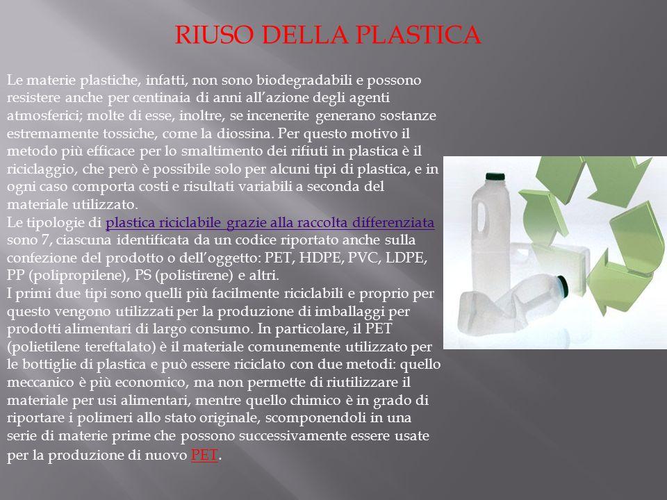RIUSO DELLA PLASTICA