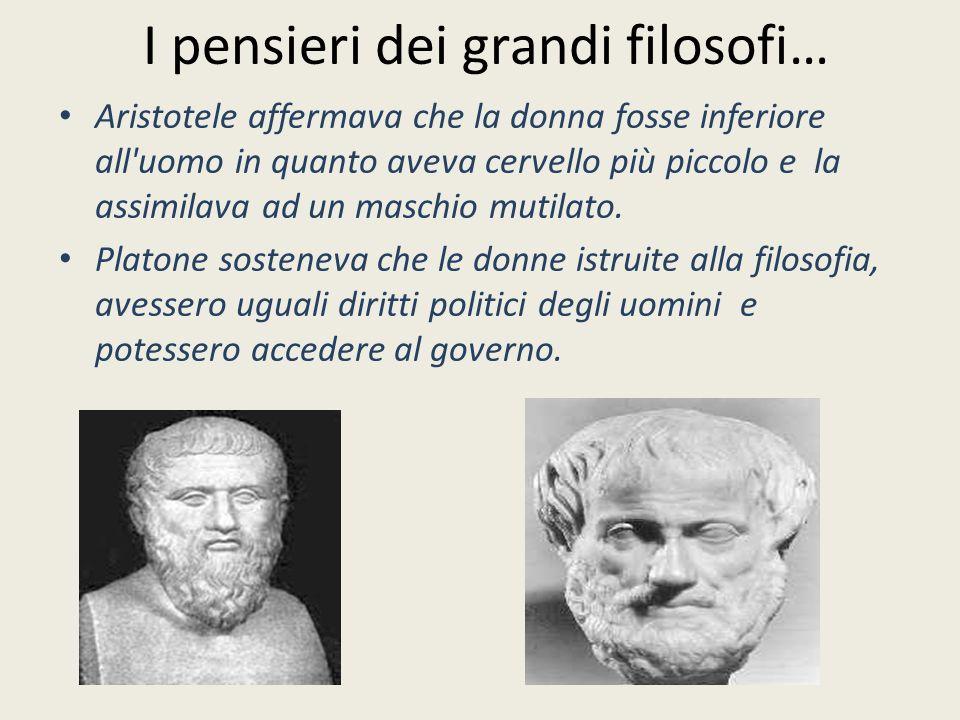 I pensieri dei grandi filosofi…