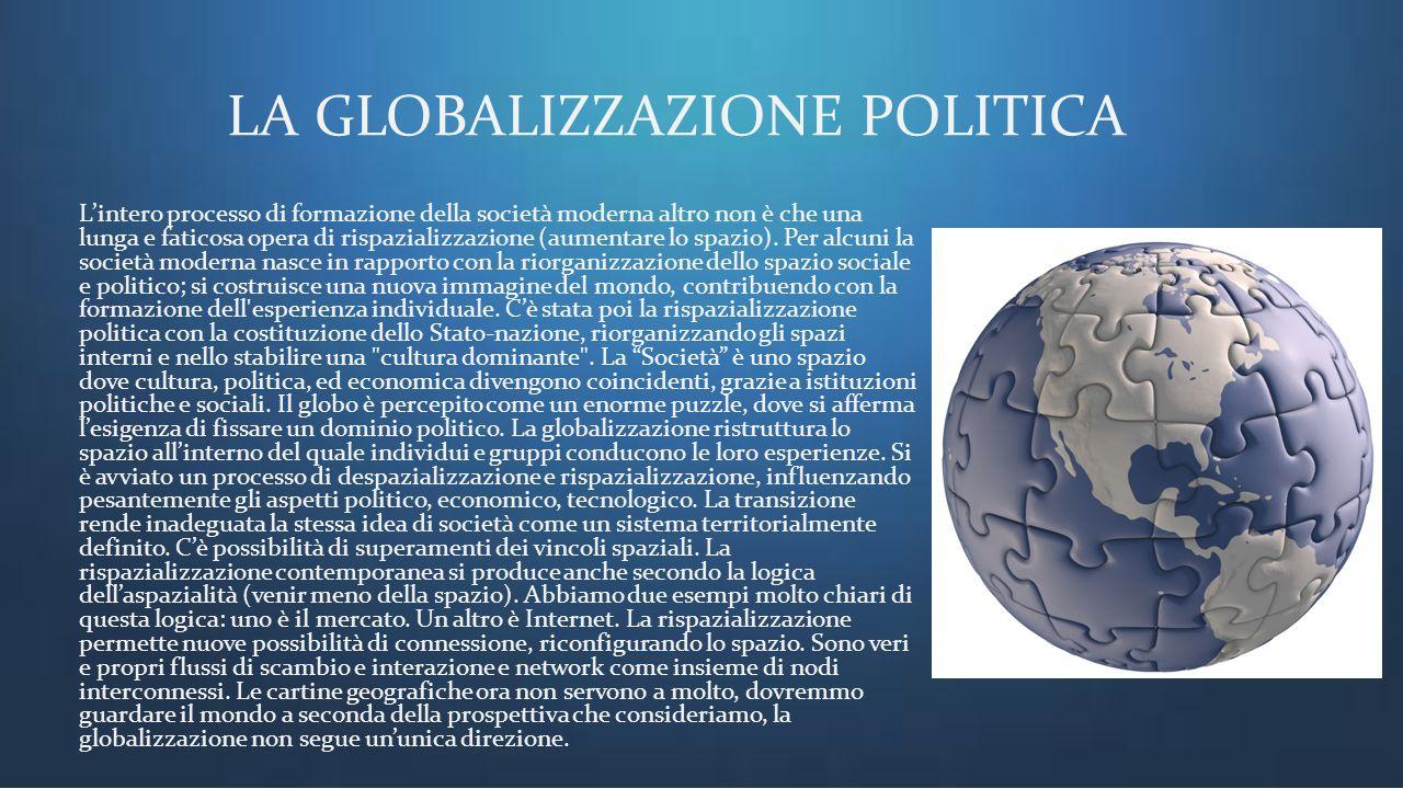 LA GLOBALIZZAZIONE POLITICA