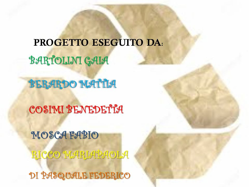 BARTOLINI GAIA BERARDO MATTIA COSIMI BENEDETTA MOSCA FABIO