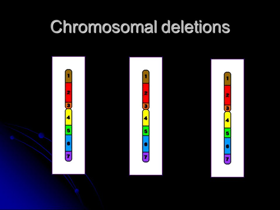 Chromosomal deletions