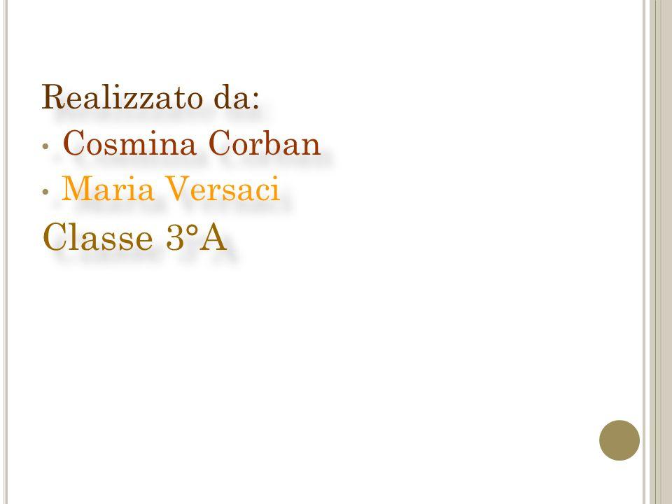 Realizzato da: Cosmina Corban Maria Versaci Classe 3°A