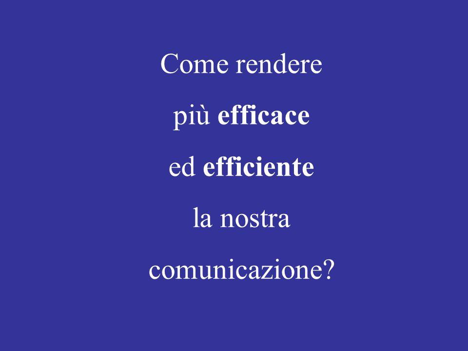 Come rendere più efficace ed efficiente la nostra comunicazione