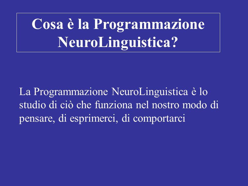Cosa è la Programmazione NeuroLinguistica