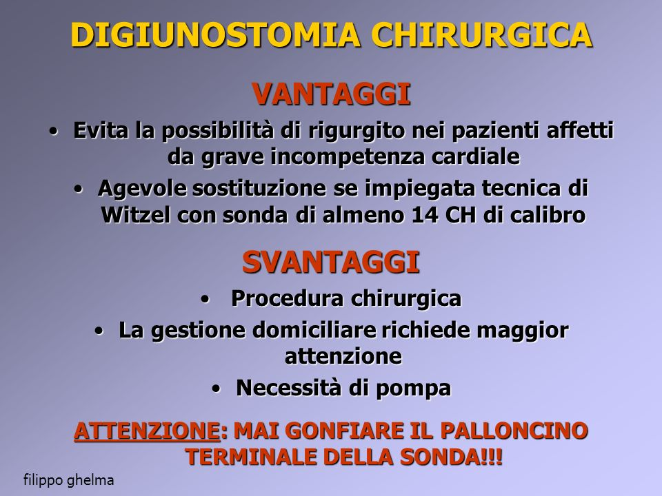 DIGIUNOSTOMIA CHIRURGICA