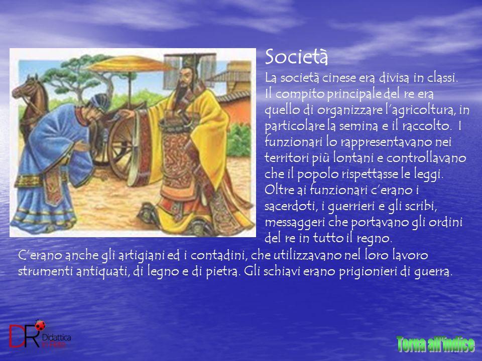 Torna all indice Società La società cinese era divisa in classi.