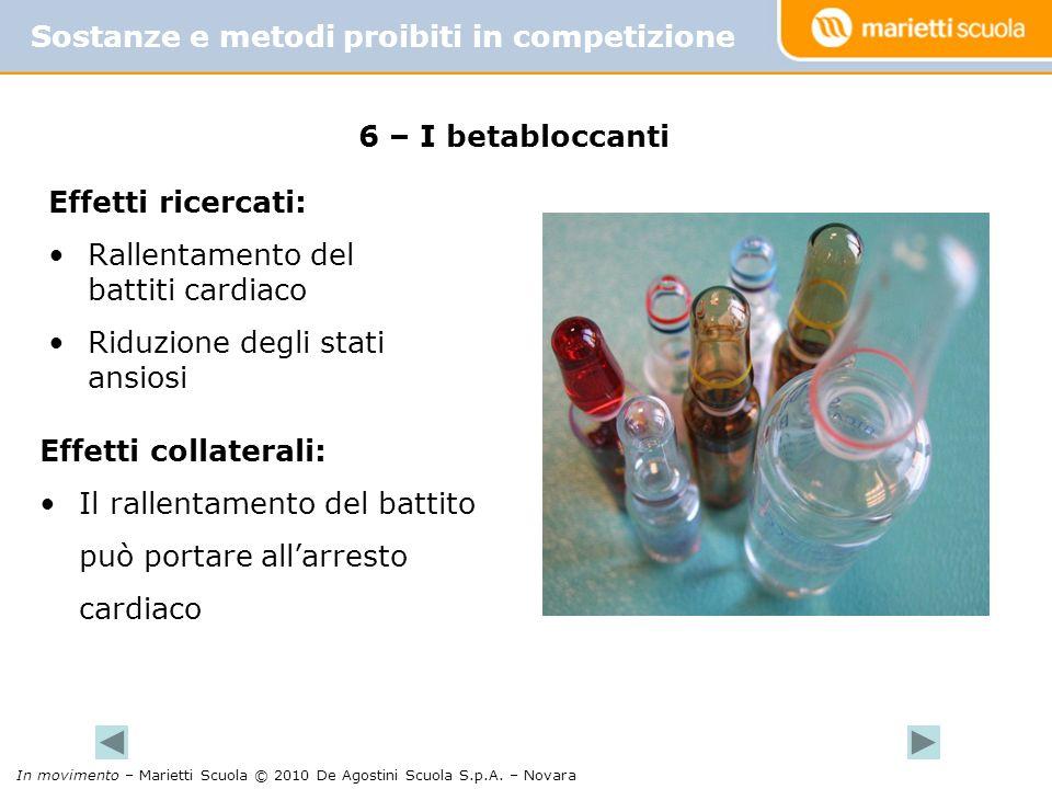 Sostanze e metodi proibiti in competizione