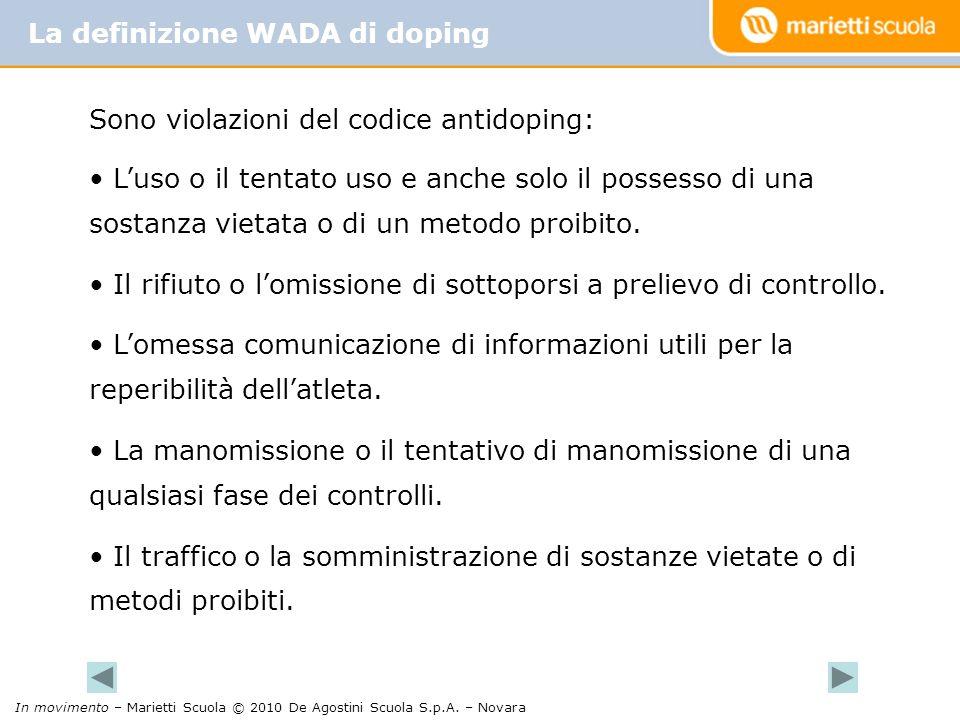 La definizione WADA di doping