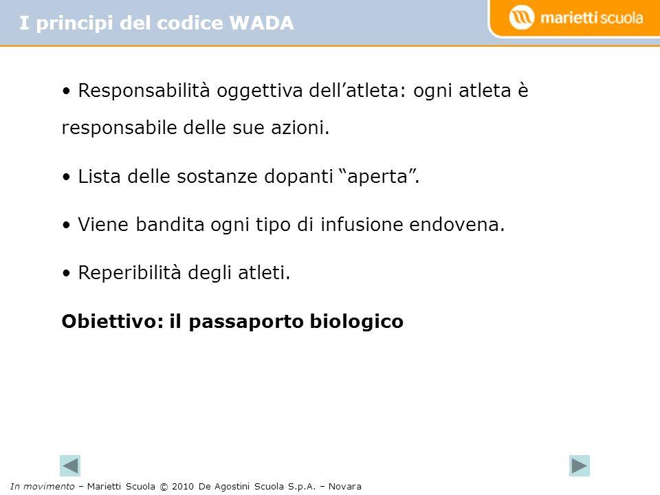 I principi del codice WADA