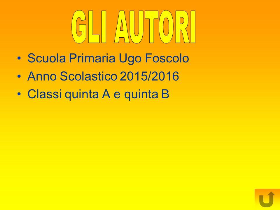 GLI AUTORI Scuola Primaria Ugo Foscolo Anno Scolastico 2015/2016