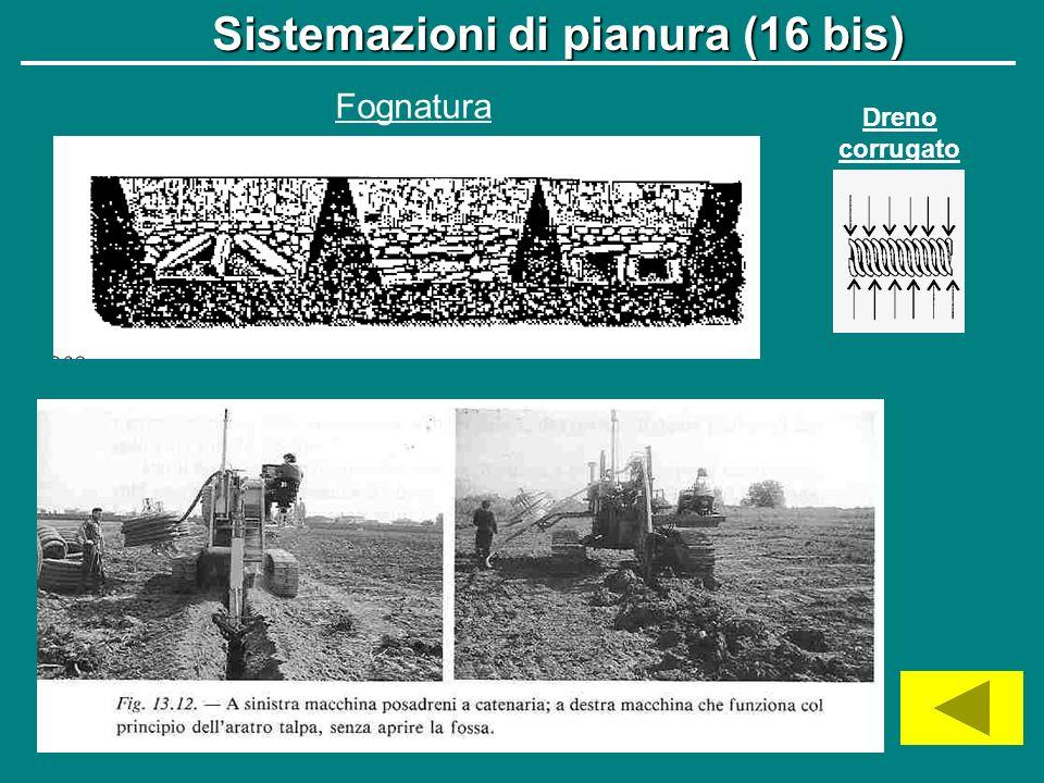 Sistemazioni di pianura (16 bis)