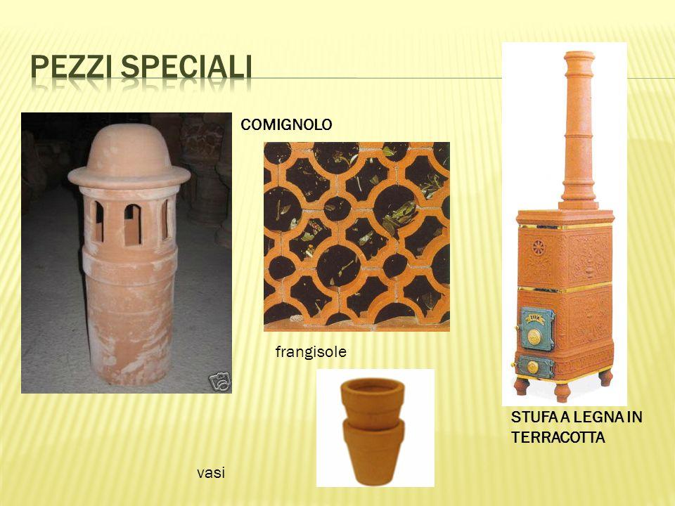Pezzi speciali COMIGNOLO frangisole STUFA A LEGNA IN TERRACOTTA vasi