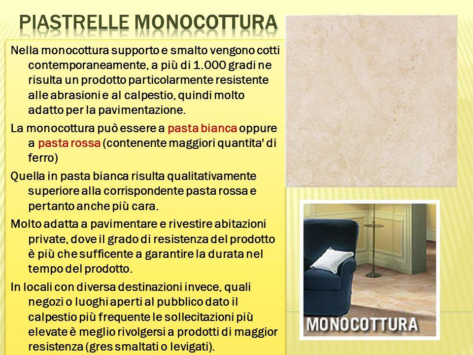 Piastrelle monocottura