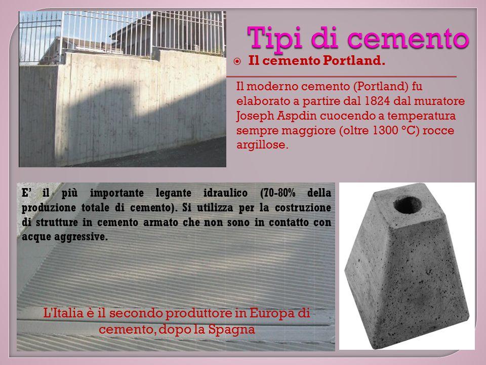 L Italia è il secondo produttore in Europa di cemento, dopo la Spagna