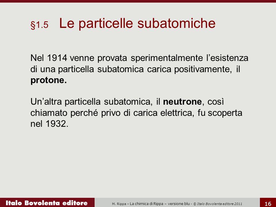 §1.5 Le particelle subatomiche