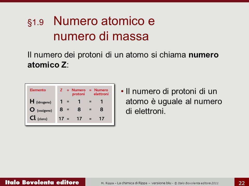 §1.9 Numero atomico e numero di massa