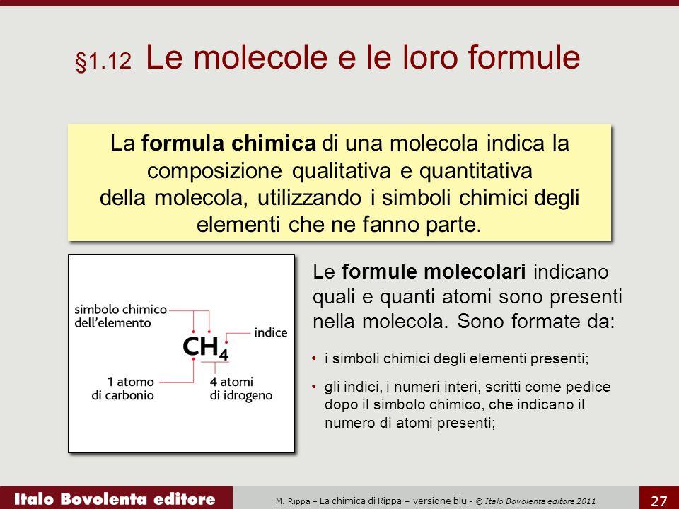 §1.12 Le molecole e le loro formule