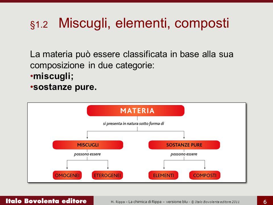 §1.2 Miscugli, elementi, composti