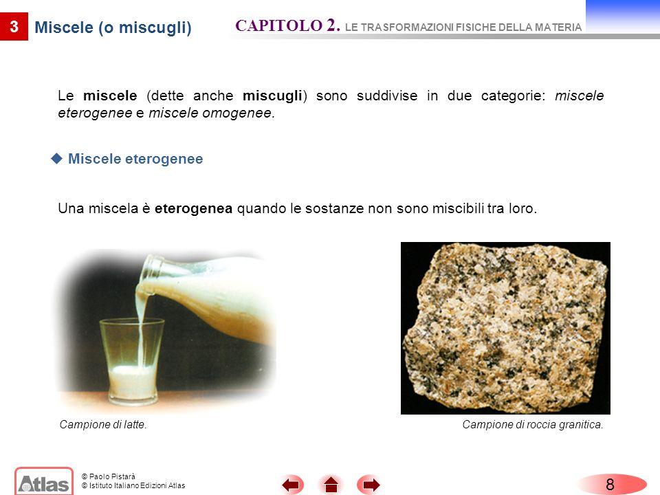 CAPITOLO 2. LE TRASFORMAZIONI FISICHE DELLA MATERIA
