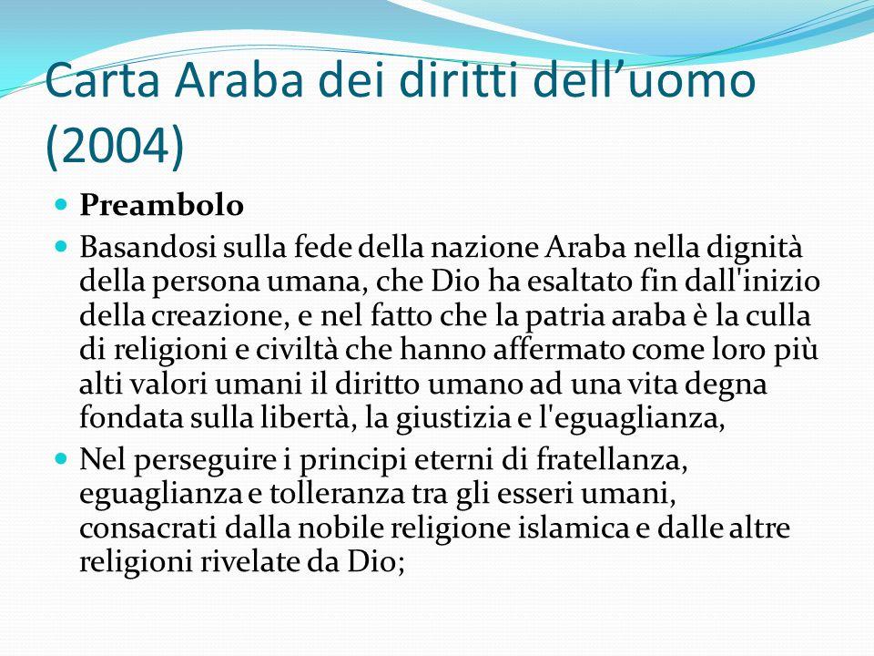 Carta Araba dei diritti dell'uomo (2004)