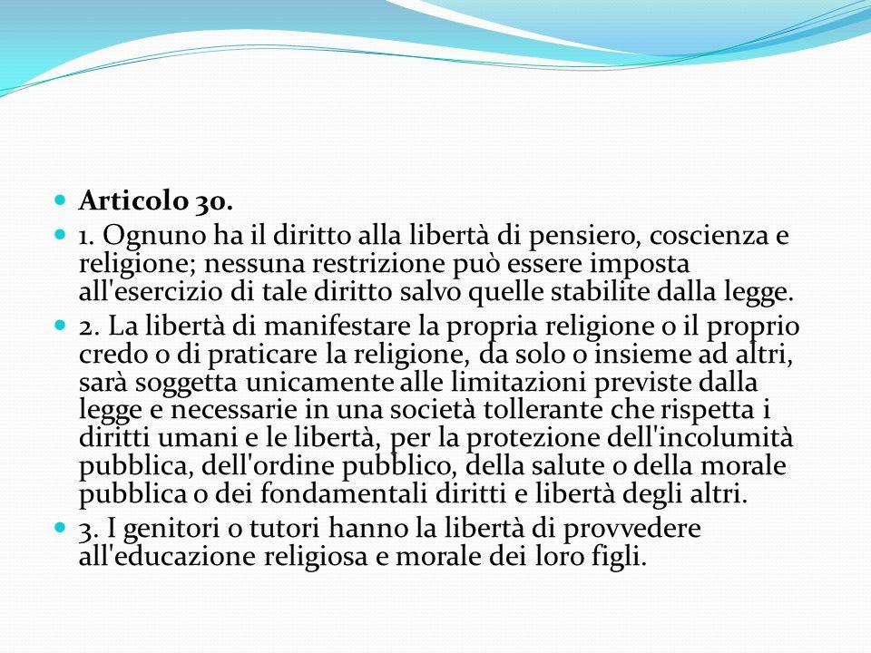Articolo 30.