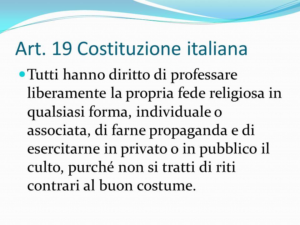 Art. 19 Costituzione italiana