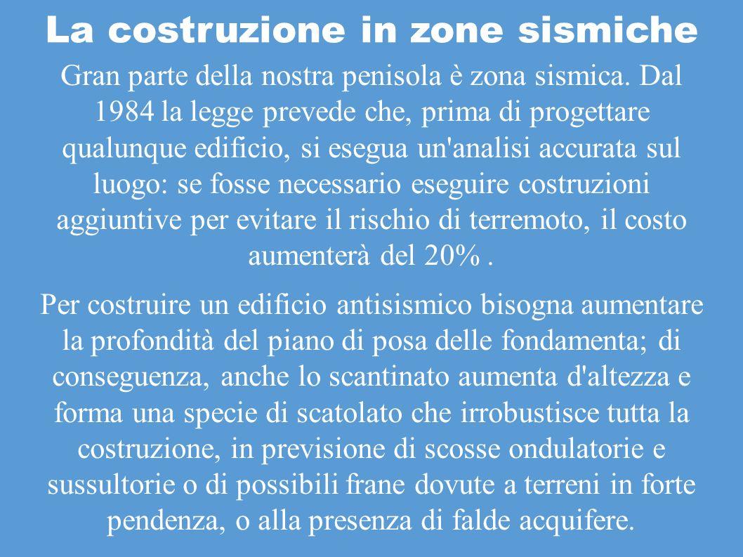 La costruzione in zone sismiche ppt scaricare for Piano di costruzione dell edificio