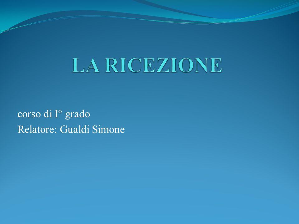 corso di I° grado Relatore: Gualdi Simone