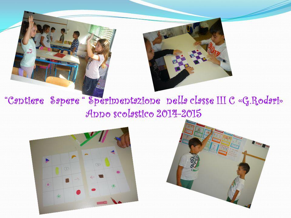 Cantiere Sapere Sperimentazione nella classe III C «G.Rodari»