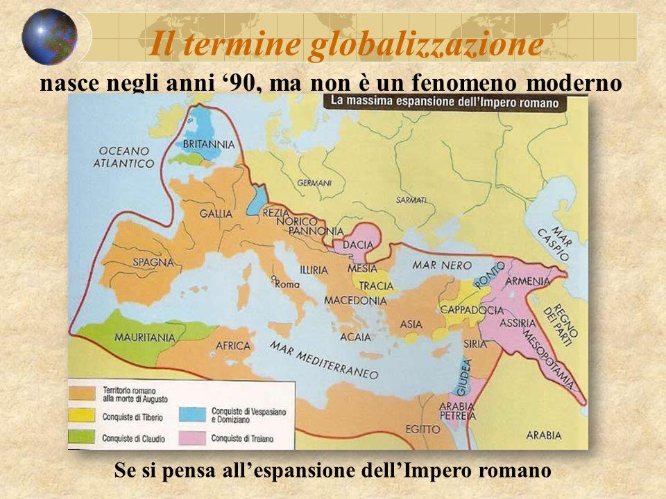Il termine globalizzazione