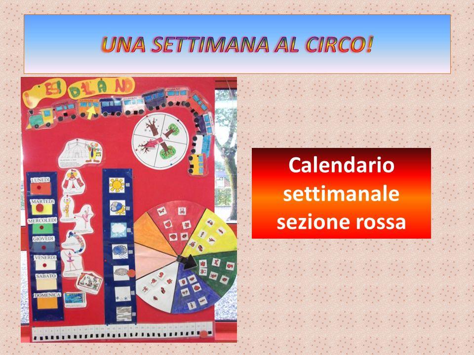 Calendario settimanale sezione rossa