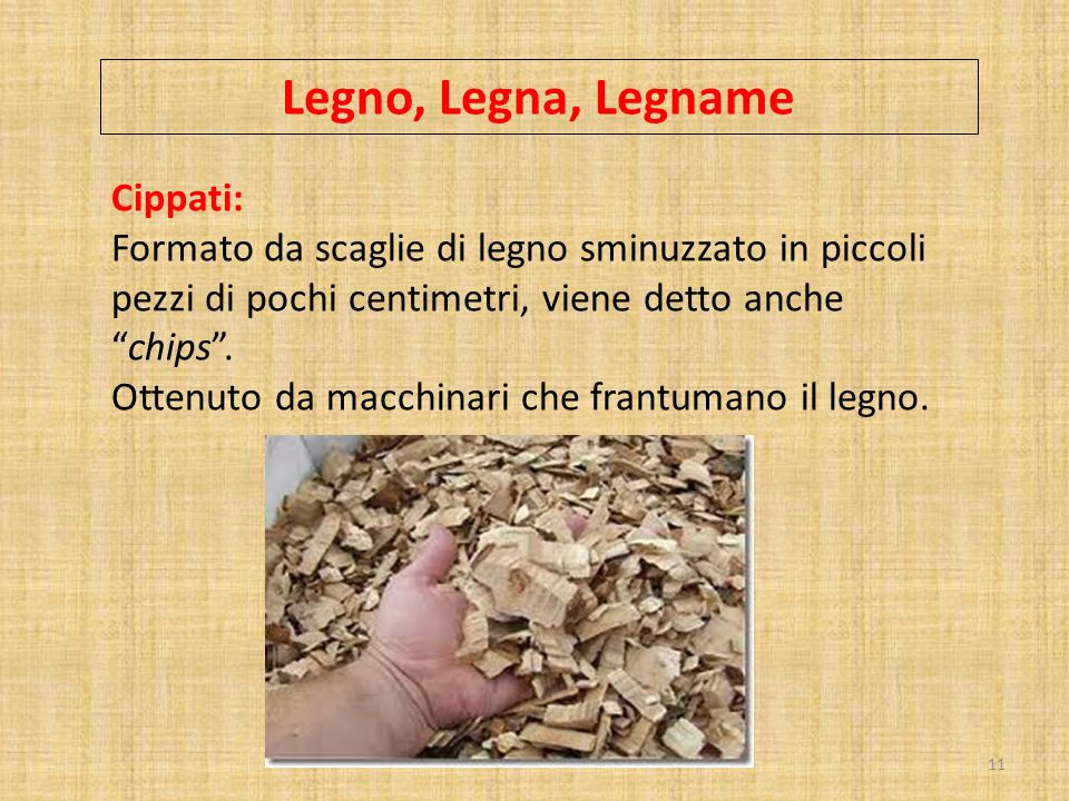Legno, Legna, Legname Cippati: