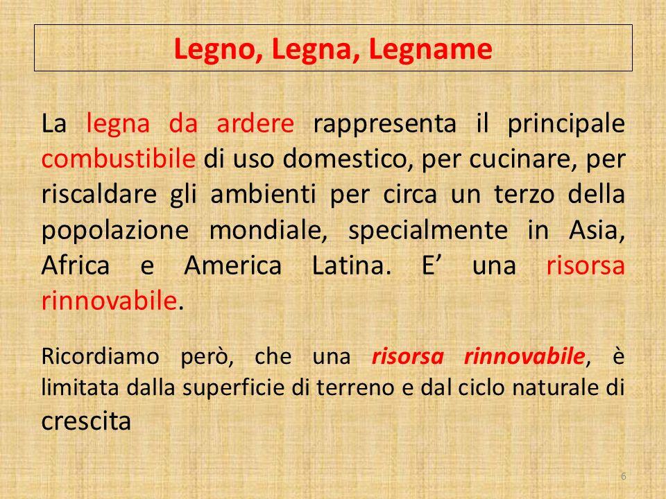 Legno, Legna, Legname
