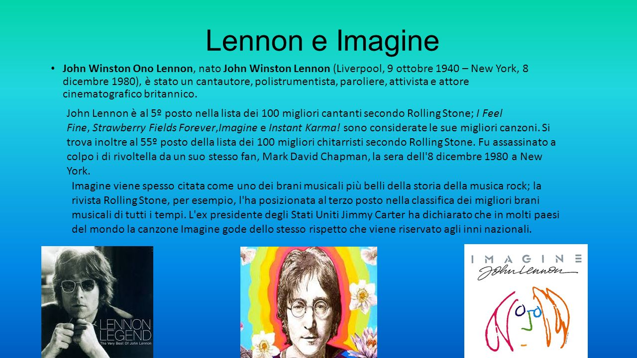 Lennon e Imagine
