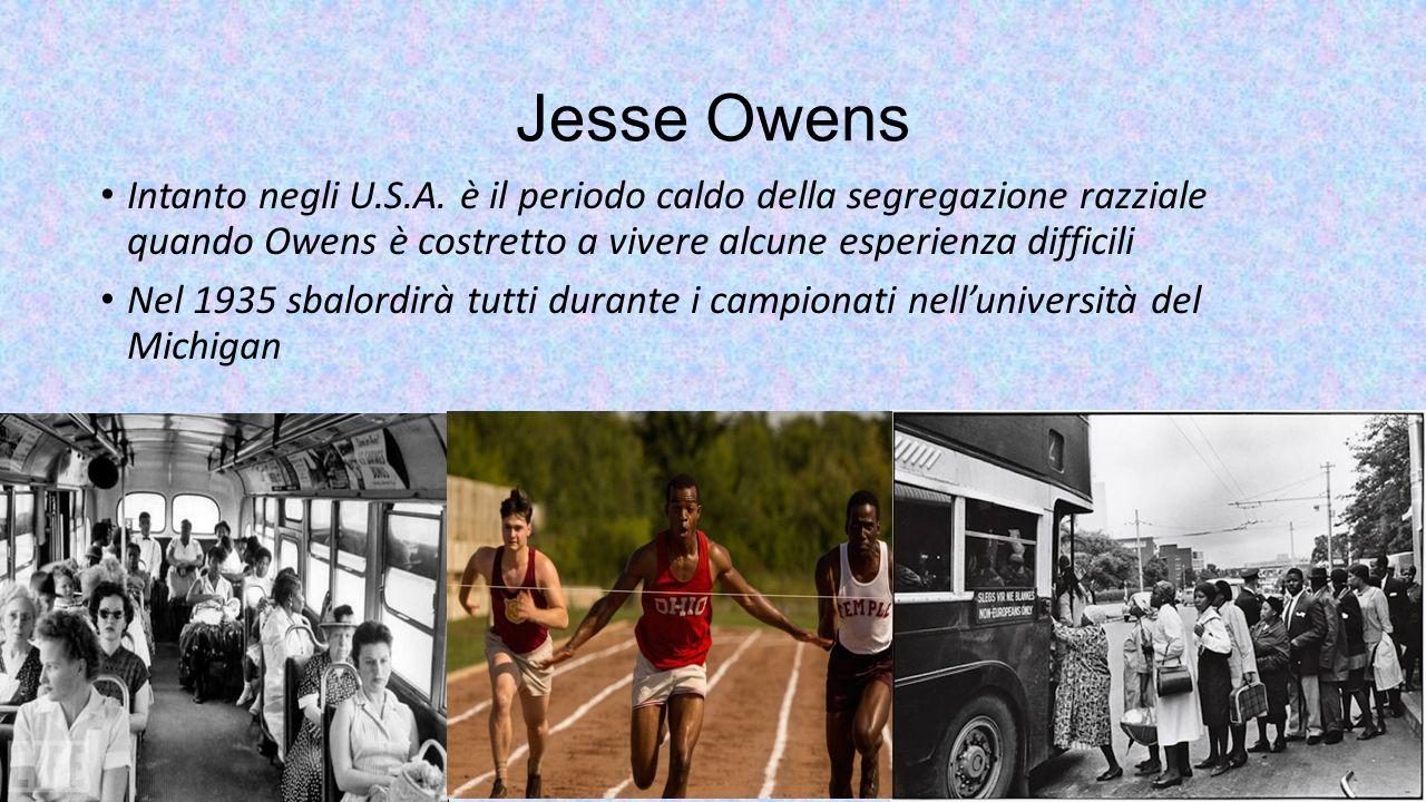 Jesse Owens Intanto negli U.S.A. è il periodo caldo della segregazione razziale quando Owens è costretto a vivere alcune esperienza difficili.