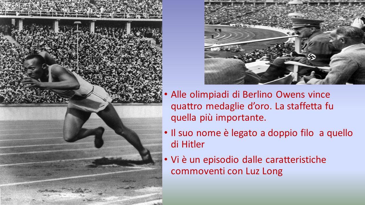 Alle olimpiadi di Berlino Owens vince quattro medaglie d'oro