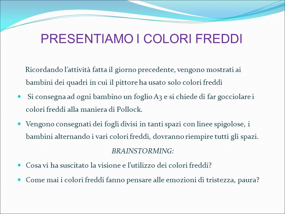 Super I COLORI CALDI E FREDDI. - ppt video online scaricare RE12