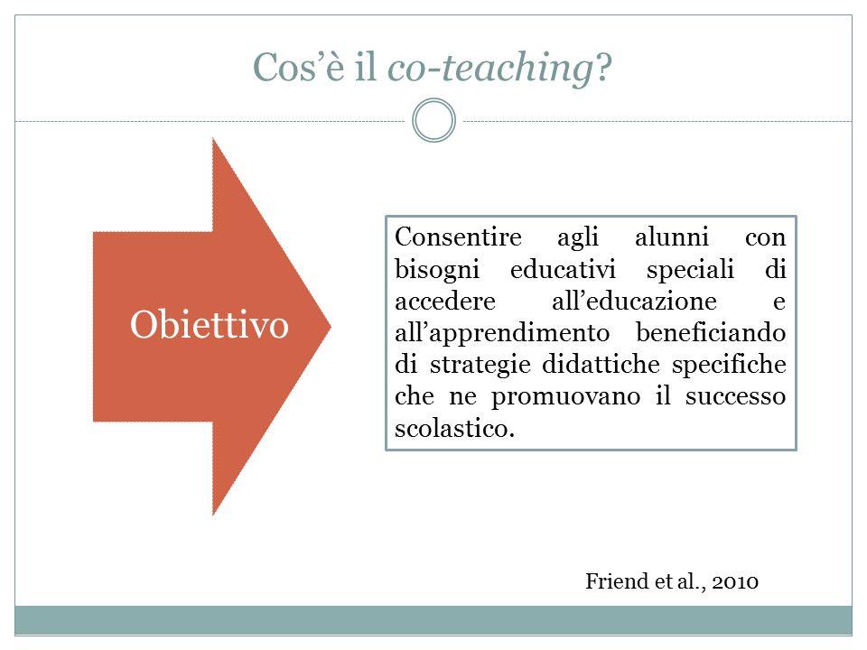 Cos'è il co-teaching Obiettivo