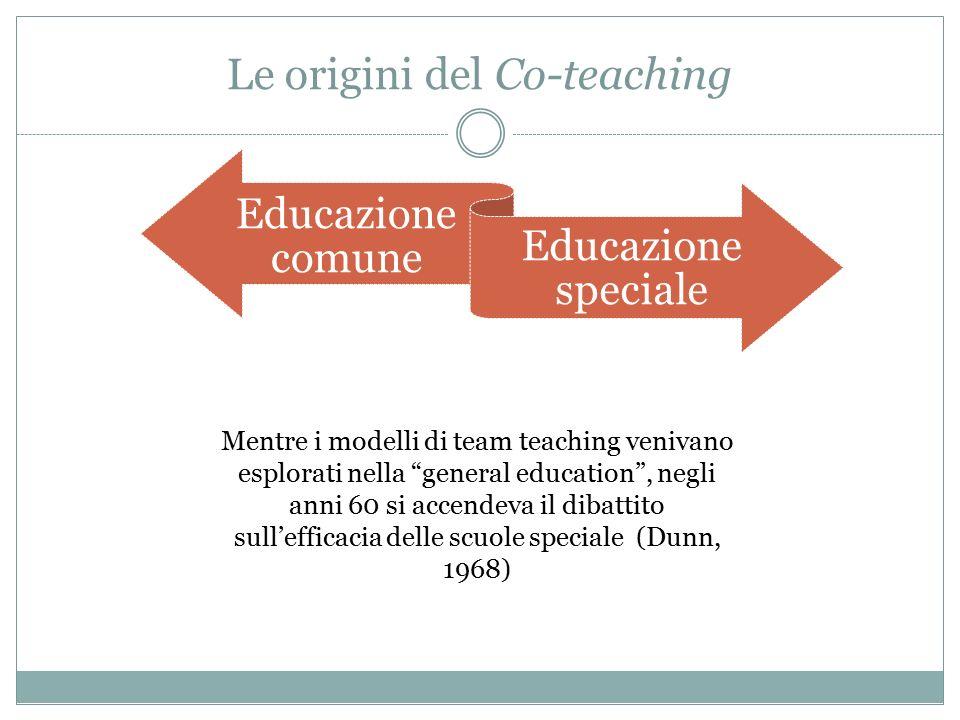 Le origini del Co-teaching