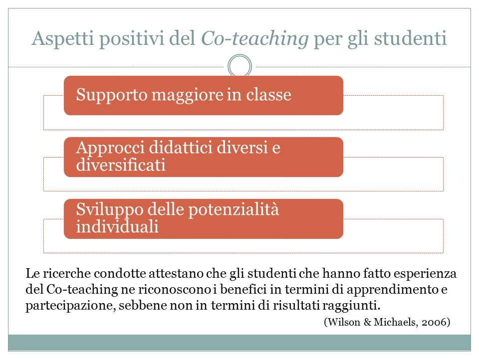Aspetti positivi del Co-teaching per gli studenti