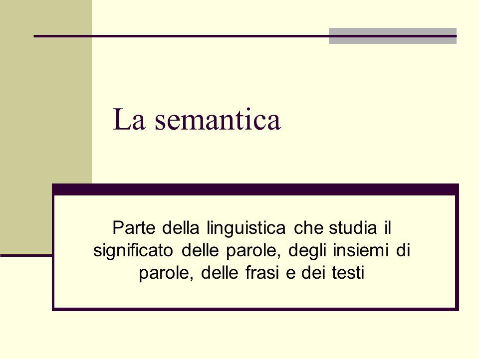 La Semantica Parte Della Linguistica Che Studia Il Significato Delle
